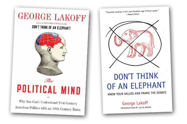 Covers of George Lakoff books